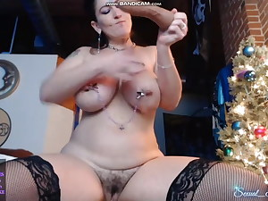 Tatted MILF with Huge Tits and Butt Railing her Fucktoy