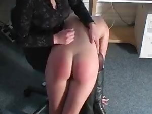 Dirty Towheaded Slut Ravages her Cunt while getting Slapped