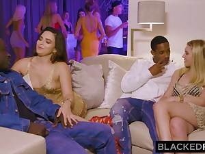 BLACKEDRAW – Two European hotties compete for BBC at a soiree