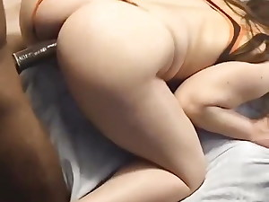 MILF With Beautiful Ass Takes BBC from Behind