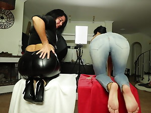 LEATHER vs. JEANS! THE Buttfuck CHALLENGE!