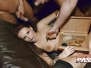4k Steaming Cigar Seller Claudia Adams Gangbanged