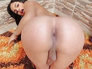 Entertaining tgirl is level focus on on every side penetrate their way fuckable holes